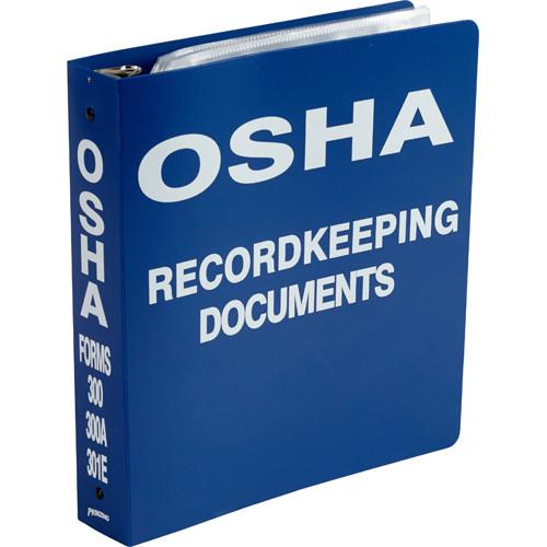 Osha 300 record document binder safety emporium for Osha bathroom requirements