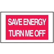 Mini Instructional Label - Save Energy Turn Me Off, 10/Pkg