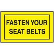 Mini Instructional Label - Fasten Your Seatbelts, 10/Pkg