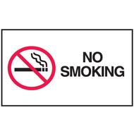 Mini Instructional Label - No Smoking w/ Cigarette Graphic, 10/Pkg