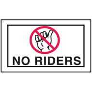 Mini Instructional Label - No Riders w/ No Hitchhiking Graphic, 10/Pkg
