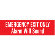 Sign, Emergency Exit Only Alarm Will Sound, Self-Adhesive Vinyl