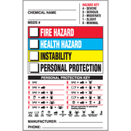 Right To Know Labels w/ Hazard and Personal Protection Keys, 500/Roll