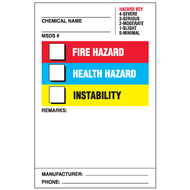Right To Know Labels w/ Hazard Key, Remarks, MSDS # etc. Entries, 25/Pkg