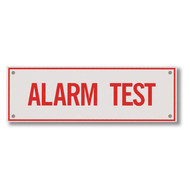 "Alarm Test Aluminum Sprinkler Identification Sign, 6""w x 2""h"