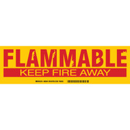 Flammable Keep Fire Away Cabinet Labels