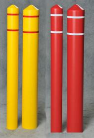 Eagle Smooth Bollard Post Sleeves w/ Reflective Striping