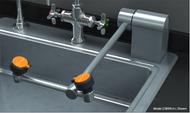 Guardian G1899 Eyewash, Deck Mounted, AutoFlow™ Swing-Down, All-Stainless Steel