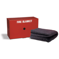 Drop-Down Fire Blanket Cabinet w/ Blanket