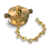 "2.5"" Brass Plugs + Chain for FDC, Hydrant, and Valve Connections"