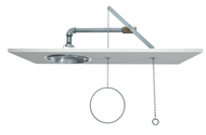Guardian G1627 Emergency Shower, Recess Mounted, Stainless Steel Shower Head
