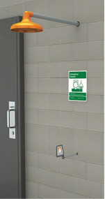 Guardian GFR1205 Freeze-Resistant Emergency Shower, Horizontally Mounted, Plastic ShowerHead