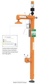Guardian GFR3300 Heated Safety Station with Eyewash, IEEE Compliant, Top Inlet, Rated for Class I, Division 2 Environment