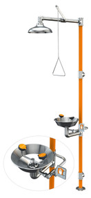 Guardian G1996 Series Safety Stations with Eye/Face Wash, All-Stainless Steel Construction