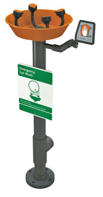 Guardian G1796 WideArea™ Eye/Face Wash, Pedestal Mounted, All-PVC Construction