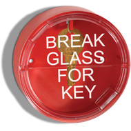 "Two Piece Emergency Key Box w/ Breakable Front Window, 4"" diameter"