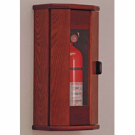 Wooden Fire Extinguisher Cabinet, Acrylic Front, 10 lb