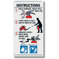 BC Fire Extinguisher Instructional Labels