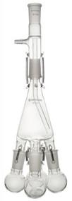 Distillation Receiver, Vertical, w/ 4 Flasks and Springs