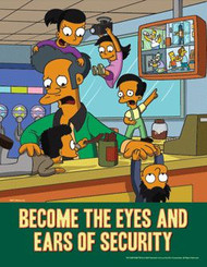 The Simpsons Safety Poster - Become the Eyes and Ears of Security