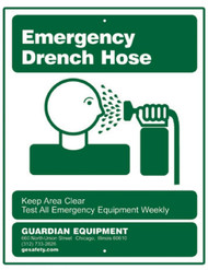 Guardian 250-006G Emergency Drench Hose Sign
