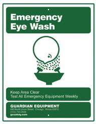 Guardian 250-007G Emergency Eye Wash Sign