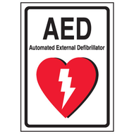 AED Label:  AED Automatic External Defibrillator