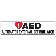 Landscape AED Label:   AED Automated External Defibrillator