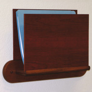 Wooden Privacy Open End File and Chart Holder w/Oval Base