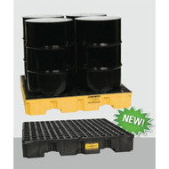 Model 1645 Eagle Low-Profile,  Forkliftable 4 Drum Spill Containment Pallet