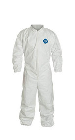 Tyvek® Coveralls, Zipper Front, Elastic Wrists and Ankles