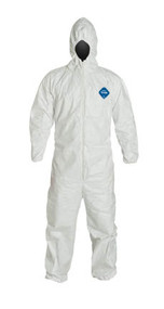 Tyvek® Coveralls, Zipper Front, Elastic Wrists and Ankles, Hood