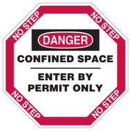 Manhole Cover: DANGER. Confined Space, Enter by Permit Only