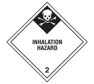 Class 2 Inhalation Hazard DOT Shipping Labels, 500/roll