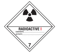 Class 7 Radioactive I DOT Shipping Labels, 500/roll