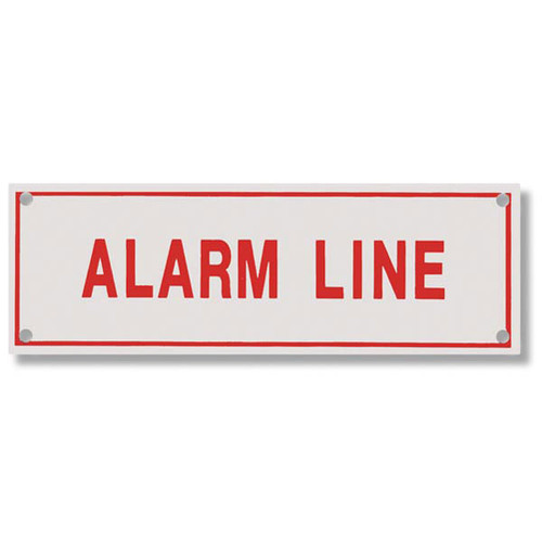 Alarm line aluminum sprinkler identification sign safety