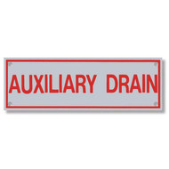 Auxiliary Drain Aluminum Sprinkler Identification Sign