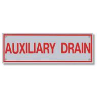 Auxiliary Drain Aluminum Sprinkler Identification Sign