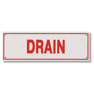 Drain Aluminum Sprinkler Identification Sign