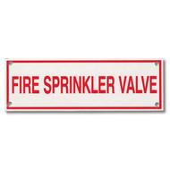 Fire Sprinkler Valve Aluminum Sprinkler Identification Sign