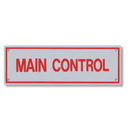 Main Control Aluminum Sprinkler Identification Sign
