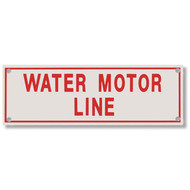 Water Motor Line Aluminum Sprinkler Identification Sign