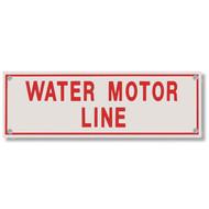 Water Motor Line Aluminum Sprinkler Identification Sign