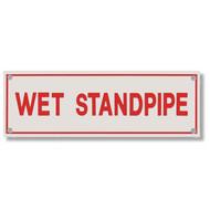 Wet Standpipe Aluminum Sprinkler Identification Sign
