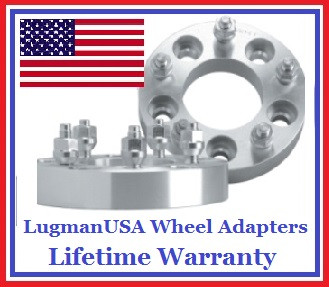 5x100 to 5x130 LugmanUSA Wheel Adapters (Pair of 2)