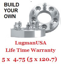 "LugmanUSA Life Time Adapter - Build Your Own 5x4.75"" (5x120.7mm)"