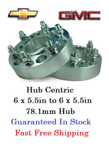 Hub Centric Wheel Adapters 6 Lug Chevy and GMC (pair of 2)