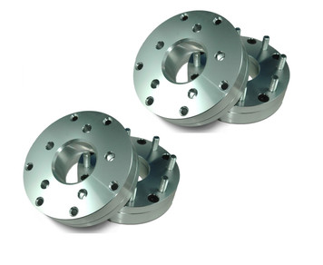 5 to 8 lug hub centric to vehicle and Wheels. 2-piece design, 2 inch thick