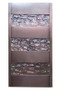 Slat Wall Sconce - shown in antique copper finish and hammered glass