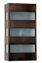 Slat Wall Sconce - Antique Copper finish with Frosted Glass